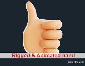 animated Like Hand 3D Emoji Thumbs UP