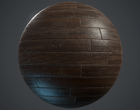 3D model Old woodstrip Parquet - PBR textures