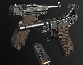 Luger P08 3D asset realtime