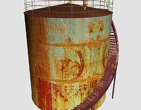 Oil Tanker 3D model low-poly