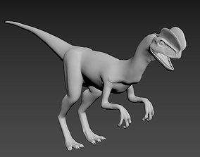 3D dinosaurs model textured