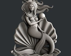 3d STL models for CNC router Mermaid