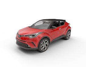 Low Poly Car - Toyota C-HR 2017 Red 3D asset