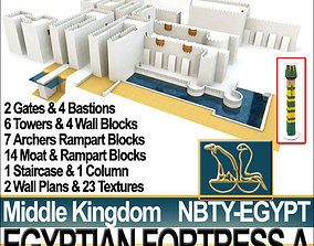 3D model Egyptian Fortress A Middle Kingdom