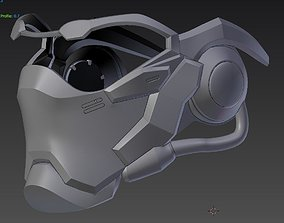 Overwatch Soldier 76 Mask Removable face part 3D print