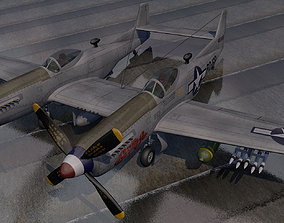 North American P-82 Twin Mustang 3D model