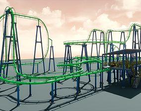 3D asset Roller Coaster UE4