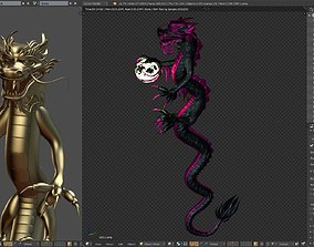 Chinese Dragon Mesh and blend file 3D model