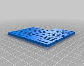 3D printable model Set of Dominoes for printing