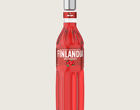 Finlandia Original Classic Redberry Bottle 3D model 2