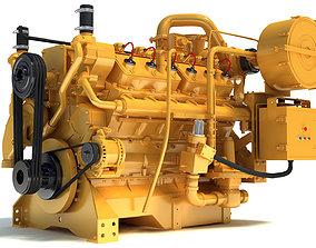 Generator Industrial Engine 3D