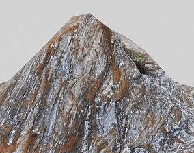 Low Poly Mountain Hill Terrain 3D asset