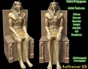 Egyptian Statue Khafre - PBR - Textured 3D asset
