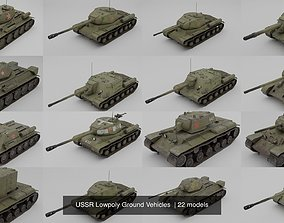 3D USSR Lowpoly Ground Vehicles