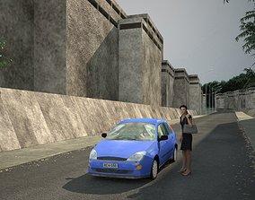 3D model Low poly car low