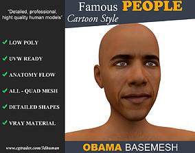 3D model Low poly Character Cartoon Basemesh - Barack