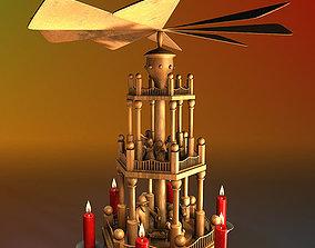 3D model Christmas pyramid