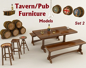 Tavern Furniture 2 3D