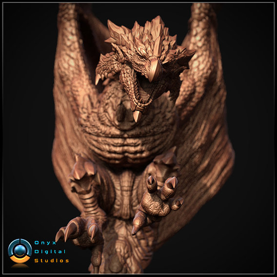 Monster hunter Rathalos Diorama
