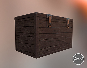 3D model low-poly Wooden Chest