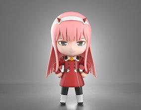 Zero Two chibi figure 3D