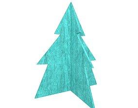 Wooden Christmas Trees v1 003 3D model