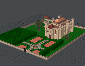 3D model Palace with Grounds