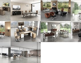 workstation 10 Office Interior Pack Collection 3D model