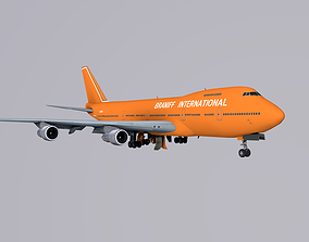 3D model Boeing 747 Braniff International