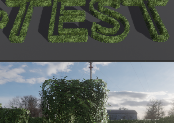 Low-Poly Boxwood Hedge Construction Kit Version 1 (Blender-2.91 Eevee)