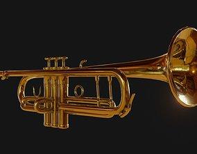 3D model game-ready Trumpet PBR