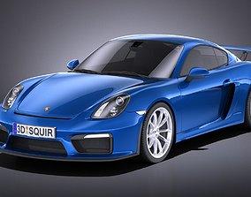Porsche Cayman GT4 2016 VRAY 3D model
