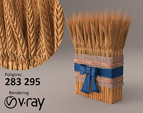 3D model game-ready Wheat