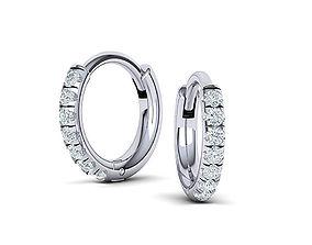 Hoop earrings 3dmodel printable jewelry