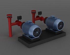 Engine motor Pulverizer air pump mechanical equipment 3D