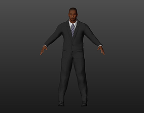 3D asset Black-skinned man