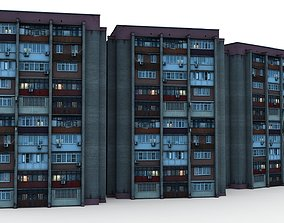 Panel House Wikipedia of Russia 01 3D model