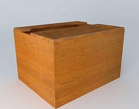 3D model Kitchen Red Fair Cabinet fair kitchen black