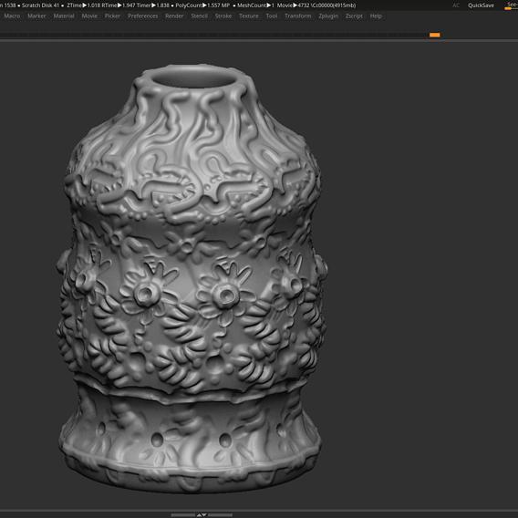 Vase modern 3d print model