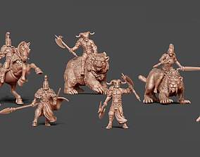 Beast Riders Bundle - 32-35 mm scale 3D printable model