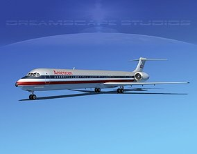 Douglas MD-80 American Airlines 3D