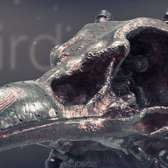 Steampunk Bird Skull