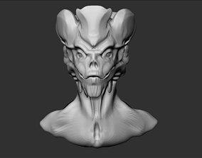 3D print model Alien Head 4