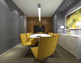 Conference room office reception hall 34 3D