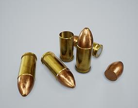 3D model Cartridge Bullet PBR Game Ready