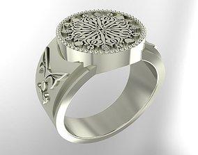 3D printable model Circle male signet ring