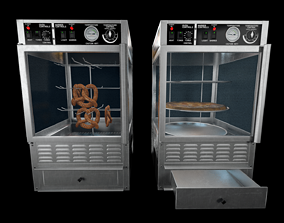 Game Ready Pretzel and Pizza Warmer Ovens 3D asset