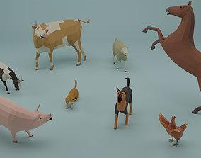 Farm animals 3D asset