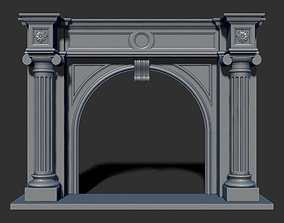 3D model Classical fireplace