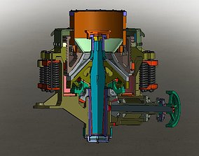 PYB-1200 Cone Crusher 3D